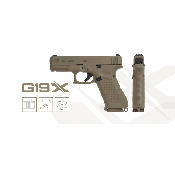 Glock 19X 9x19, Coyote