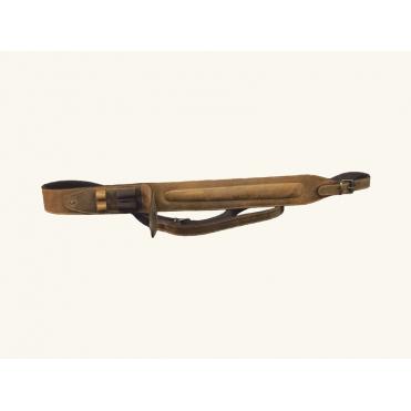 Remeň na zbraň kožený so zásobníkom na strelivo