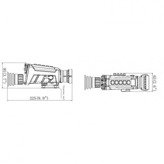 Termovízia Hikvision 2,2-8,8x Šošovka 35mm