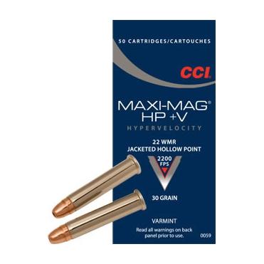 Náboje CCI .22WMR Maxi-Mag HP+V 30 gr/1,94 JHP