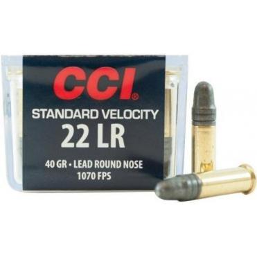 Náboje CCI .22LR Standart Velocity 40 g/2,59 g , 100 ks