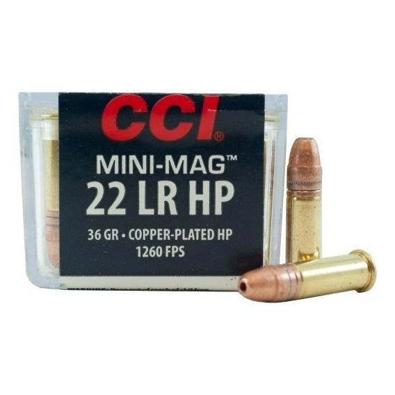 Náboje CCI .22LR Mini-Mag HP 36gr/2,33g Cooper-Plated HP, 100 ks
