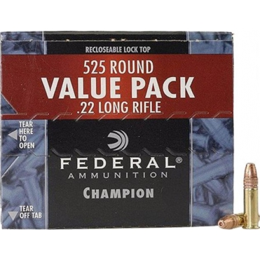 Náboje Federal .22LR Champion 36gr/2,33g Cooper Plated HP, 525 ks