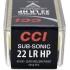 Náboje CCI .22LR Sub-Sonic HP 40gr/2,59g LHP, 100 ks