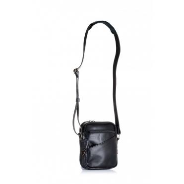 Falco kožená taška na plece-čierna