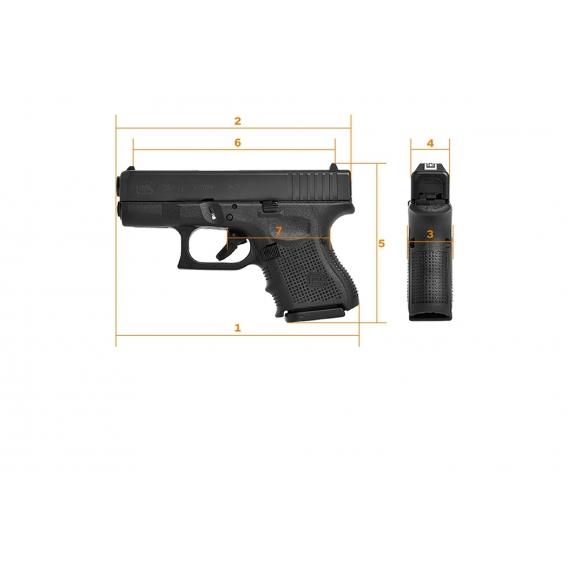 Pištoľ Glock 26, Gen.4, kal.9x19mm