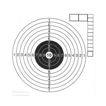 Terče vzduchovkové 14x14 cm, 50 ks
