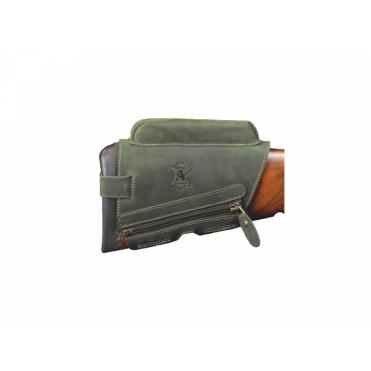 Artipel - Zvýšená lícnica 20 mm so zipsom zelená
