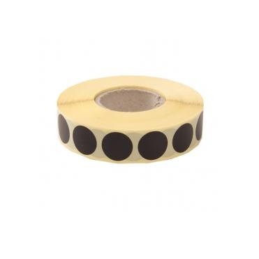 Terčové zálepky 16 mm, čierne