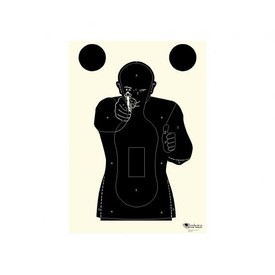 """Bersagli Mod 30 - francúzsky terč """"Combat"""" čierny"""