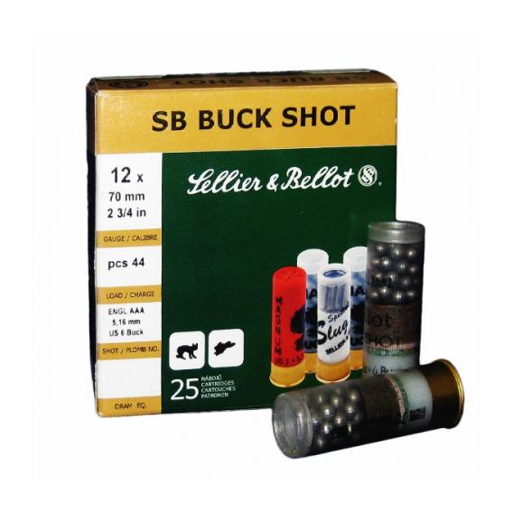 Náboje brokové Sellier & Bellot Buck Shot 12/70 5,16mm 36g