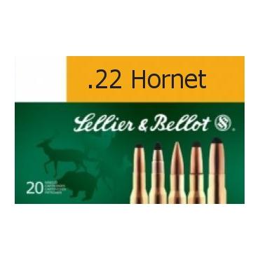 Náboje guľové Sellier & Bellot .22 Hornet 2,9g