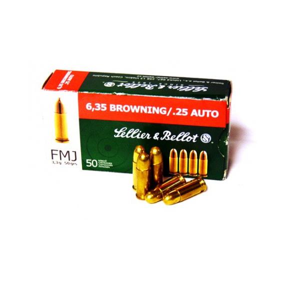 Náboje Sellier & Bellot  6,35 BROW FMJ 3,3g