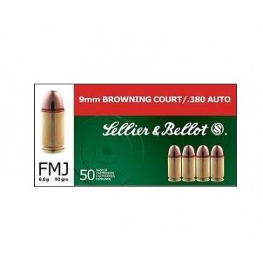Náboje Sellier & Bellot 9mm Brow Court 6,0g
