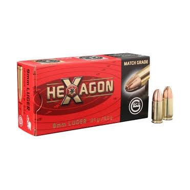 Náboje Geco 9x19 FMJ Hexagon 8,0g