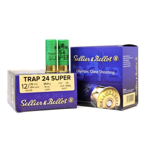 Náboje Sellier & Bellot Super Trap 12/70 2,4mm 24g