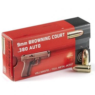 Náboje Geco 9mm Browning FMJ 6,15g