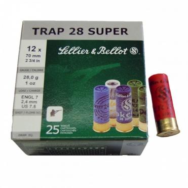 Náboje Sellier & Bellot Trap Super 12/70, 2,4mm 28g