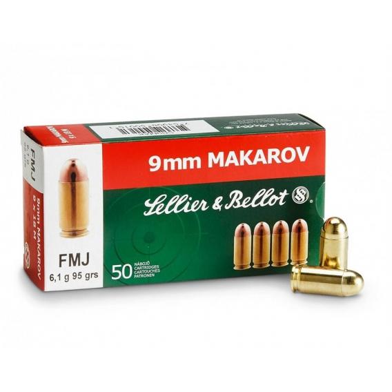 Náboje Sellier & Bellot  9mm Makarov FMJ 6,1g
