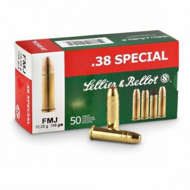 Náboje Sellier & Bellot .38 Special FMJ 10,25g